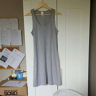 Grey Marl Jersey Casual Dress