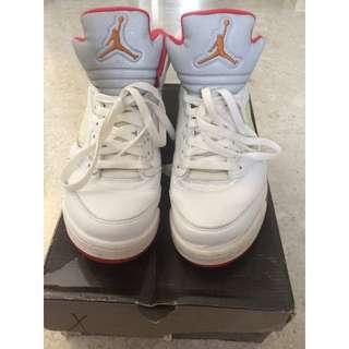 "Air Jordan 5 Retro ""Fire Red Sunset"" 2006 Release"" (US Size 8.5 Women's / 7 Men's)"