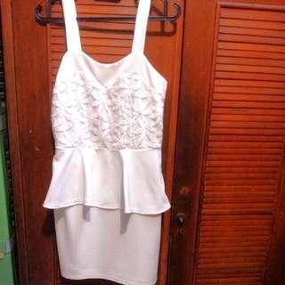 Peplum White Dress
