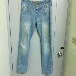 Levi's 老褲 水洗淺藍 古著 二手