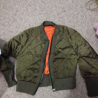 Dark Green Warm Winter Jacket Size M