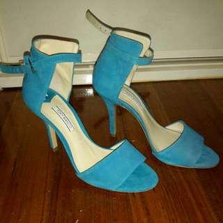 Tony Bianco Blue Ankle Strap Heels Sz 7.5