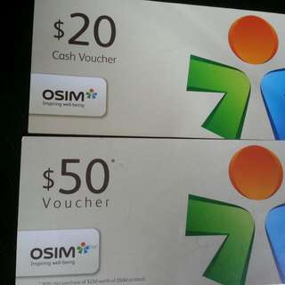 Giving Osim Cash Voucher For Free(Reserved)