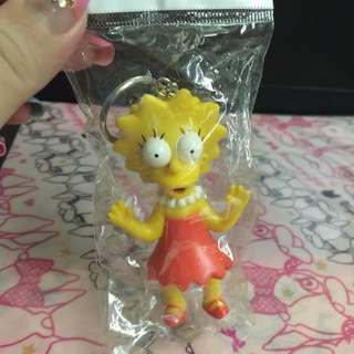 🚚 (全新收藏)辛普森家庭 麗莎Lisa 造型鑰匙圈