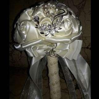 Satin Bridal Bouquet