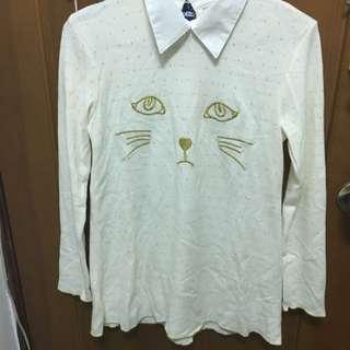 貓咪長袖洋裝