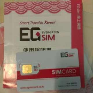 韓國上網EG SIM卡