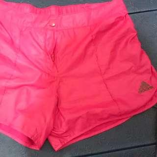 正品adidas 粉紅 運動短褲