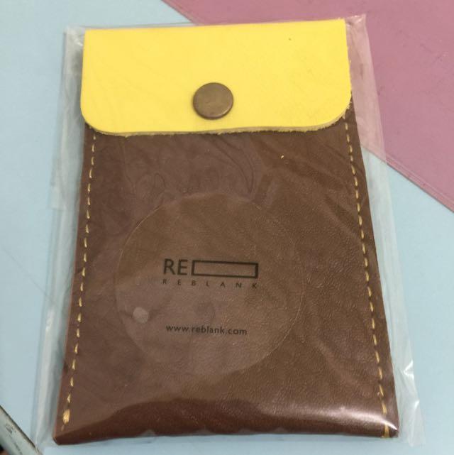 全新超可愛配色韓國真皮環保沙發皮票夾/卡夾