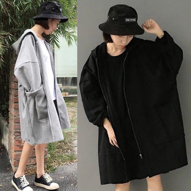寬鬆連帽大衣