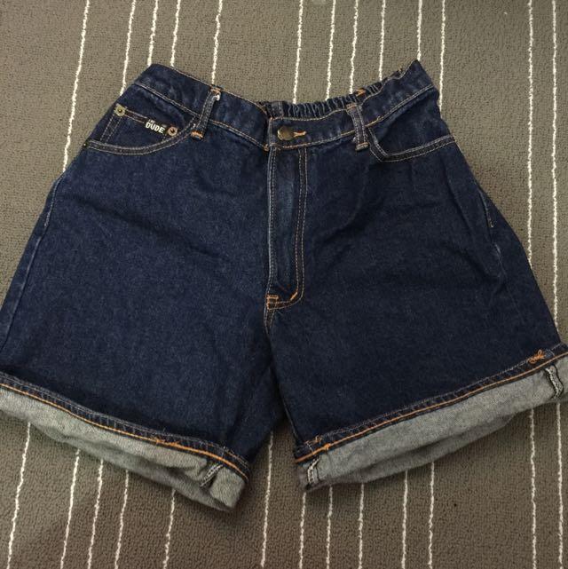 深色牛仔寬鬆短褲(含運)