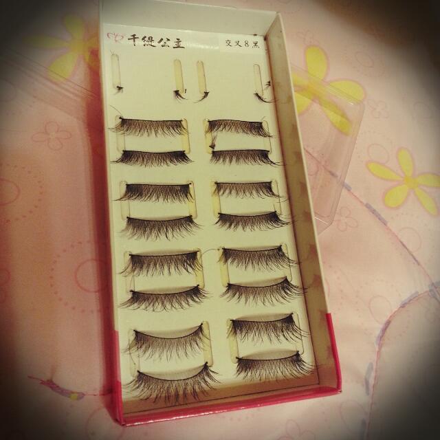 純手工雙層交叉睫毛👀 千緹公主假睫毛 ✨ 二手 元價250