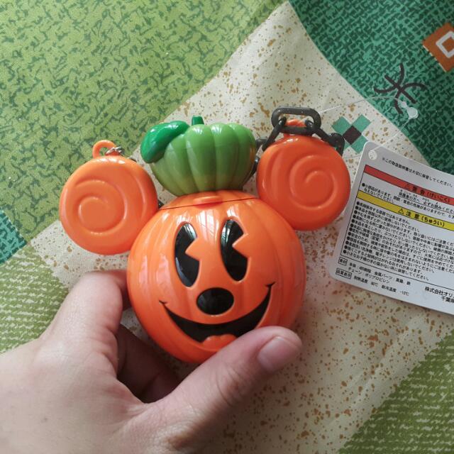 迪士尼 Disney 萬聖節 南瓜造型米奇 可愛吊飾 Mickey 爆米花