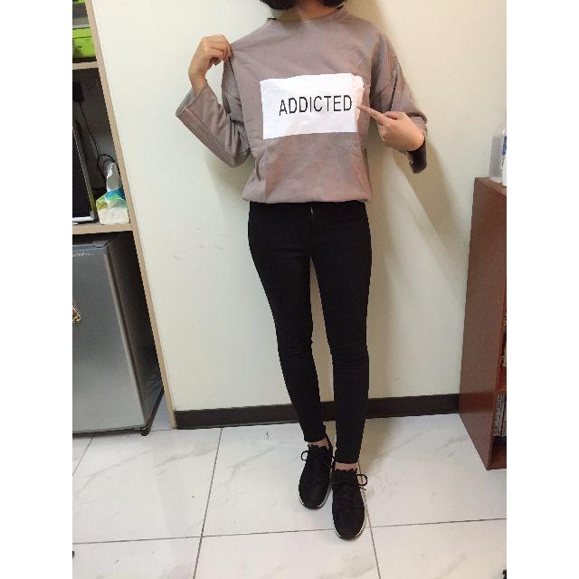 韓製 藕粉刷毛上衣+UQ黑褲