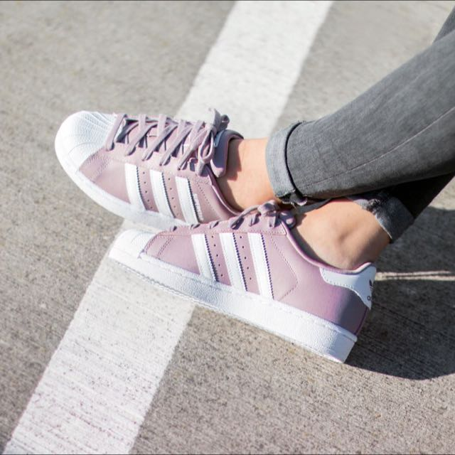 Adidas Superstar Blanch Purple on Carousell