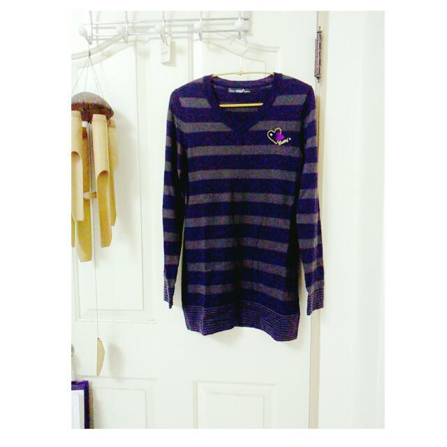 全新betty's 紫色長版毛衣 針織 羊毛