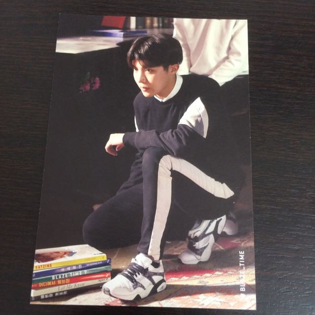 BTS JHOPE PUMA OFFICIAL PHOTOCARDS
