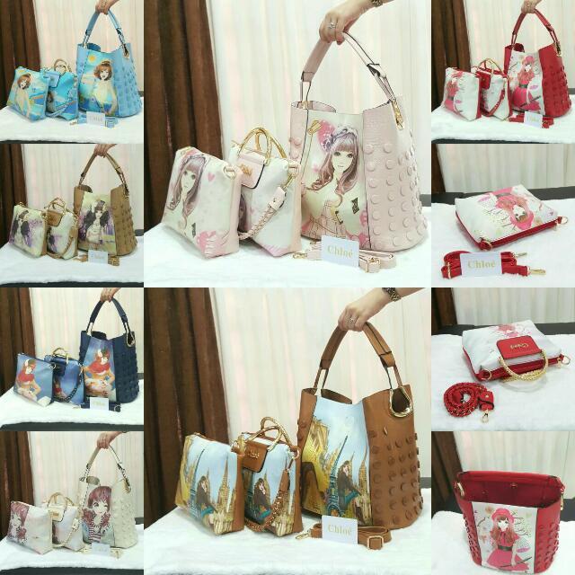 Chloe Fashion Bag 3in1 #8807
