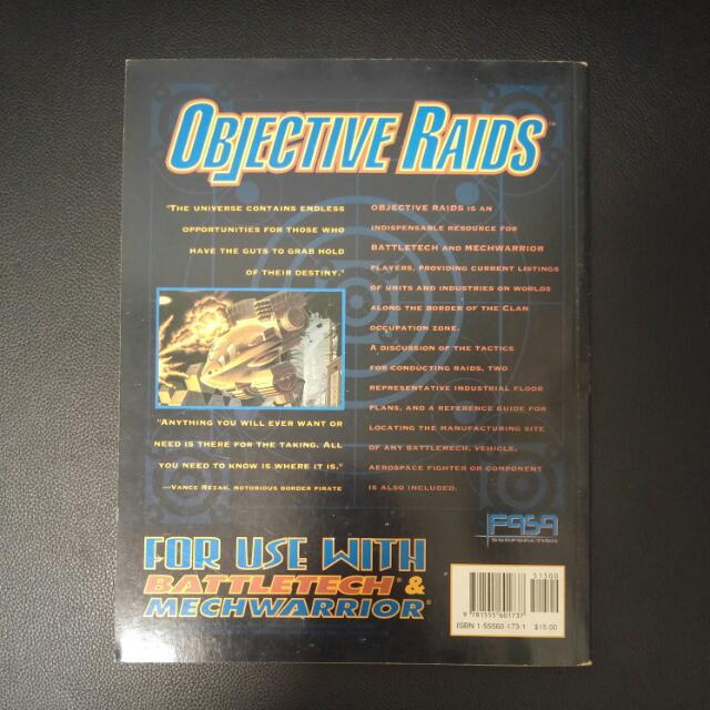 Classic Battletech Objective Raids Campaign Sourcebook  Rare And OOP