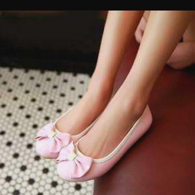 Flat shoes pink pita