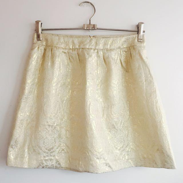 Gold Patterned Skirt