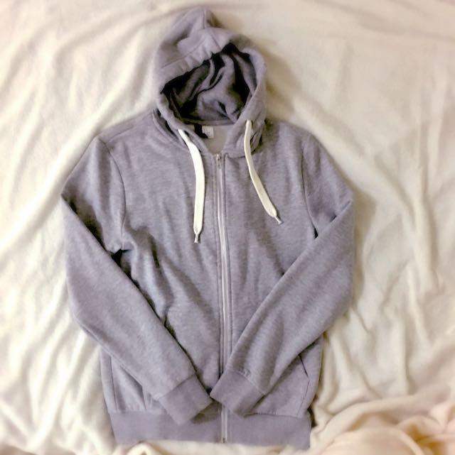 H&M 拉鍊衛衣 Zip-up 灰色