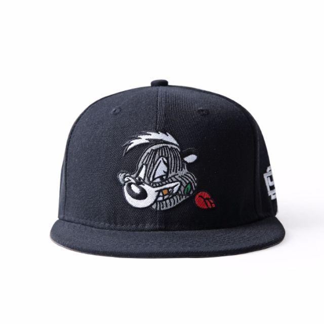 0d4887dec Instock D9 Dnine Skunk Black Straight Brim Cap Hat Caps Hats Snapback with  Adjustable Strap