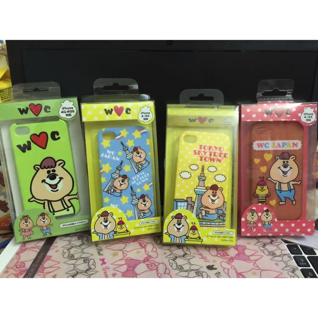 (二手)Kutaman 熊手機殼 4款合售價wc 熊(建議收藏買家購入)