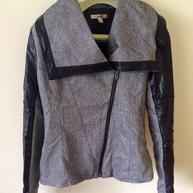 Leather Look Arms Jacket Size 6