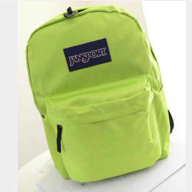 Authentic Neon Light Green Jansport School Backpack, For Her on ...