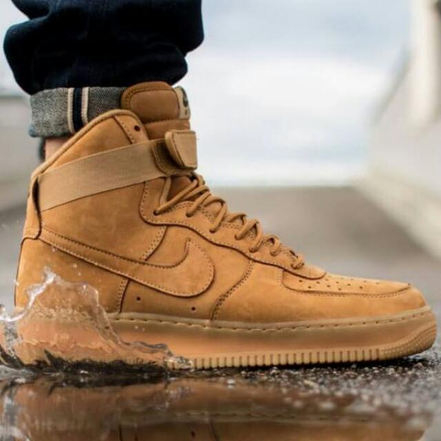 finest selection 5fdb7 b8545 Nike Air Force 1 High 07 LV8 Wheat Flax 806403-200, Men s Fashion on  Carousell