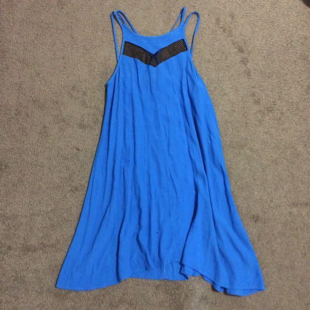 Pink Stitch Swing Dress In Size 6