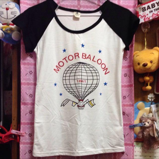 全新/熱氣球短T