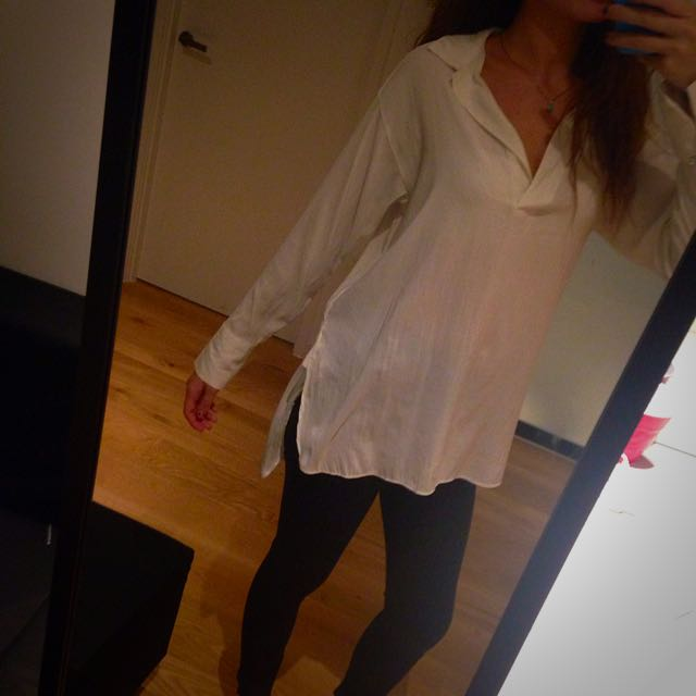 White Over Sized H & M Shirt