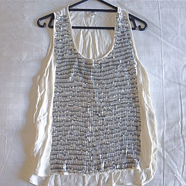 Witchery Sequinned Singlet Size 8