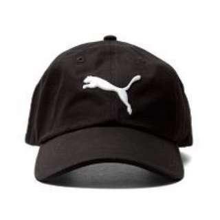 正品 Puma經典黑白logo棒球帽 老帽 彎帽