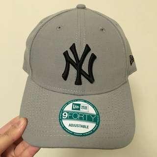 全新正品 New era 洋基隊 NY 老帽 鴨舌帽 棒球帽 復古帽 彎帽 灰色