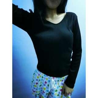 🆕 Black Long Sleeves Basic Top (New) (Ready Stock)