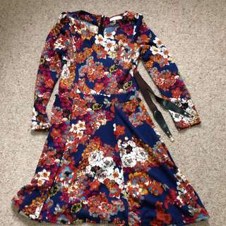 Autumn Flower Dress Size 8-10