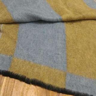 超美雙色兔毛圍巾