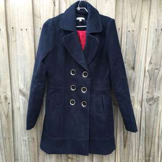 Navy Blue Double Breasted Coat
