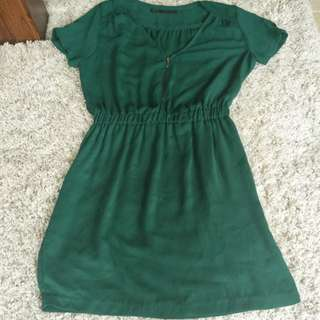 ZARA green dress