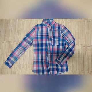 格子 格紋 長袖 襯衫