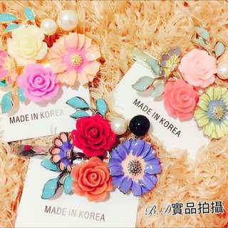 🚚 年終特惠 正韓繽紛花朵造型雛菊🌼髮夾