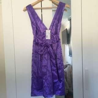 Sheike Lavender Satin Dress!