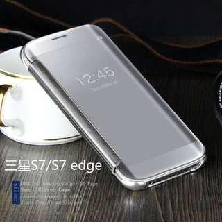 三星S7手機套G9300鏡面皮套 翻蓋保護殼 防摔手機殼 保護套 保護殼