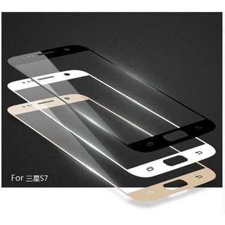 三星 S7 G9300 全貼合滿版 鋼化玻璃保護貼 螢幕貼 黑白金三色可選