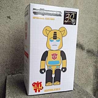 [ BE@RBRICK x 變形金剛 ]30 週年紀念!庫柏力克小熊聯名大黃蜂,全新未拆