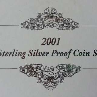Singapore Sterling Coin Set 2001
