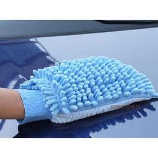 約翰家庭百貨》【CA030】雪尼爾洗車手套 打蠟手套 清潔手套 擦車布 抹布 隨機出貨